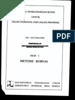 Manual Pemeliharaan Jalan - Metode Survey