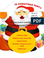 Kids Xmas Party Poster New