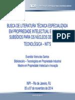 BUSCA DE LITERATURA TÉCNICA ESPECIALIZADA EM PROPRIEDADE INTELECTUAL E INOVAÇÃO