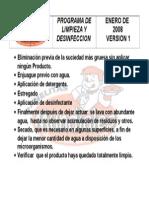 Detalle de Limpieza y Desinfeccion Habladores