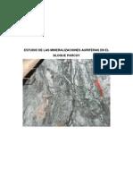 Estudio de Las Mineralizaciones Auriferas del Bloque Parcoy