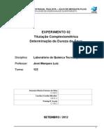 Relatório de Química Tecnológica (02)