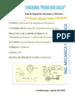 Medida de Presión y Calibracion de Manometros unprg