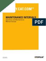 Caterpillar PR 450 Maintenance Interval