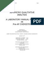 inorganic salt qualitative analysis