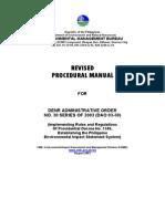 DAO 30-2003 Procedural Manual