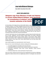 DECLARATION - India-Pakistan Dialogue New Delhi 21.11.2014