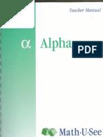 MUS Alpha Teacher Manual PDF