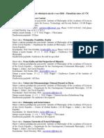 Informace o Mezinárodních vědeckých Akcích v Roce 2010 – Filosofický