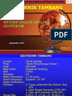 05_Geoteknik Tambang - Supandi - METODE DALAM  Analysis.ppt