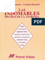 Raimbault, Ginette y Eliacheff, Caroline - Las Indomables Figuras de La Anorexia Ed.nueva Vision