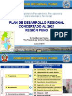 Plan Desarrollo Regional Puno - Exposición 2021