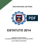 Estatuto Aprobado U Nacional de Piura 2014 (1)