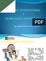 Analisis Dimensional y Semejanza Hidráulica