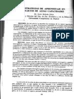 Estrategias de Aprendizaje - Altas Capacidades - Beltran