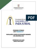 Propuesta de Trabajo CEEIND 2015- Lista Renuévate ICI