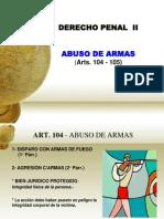 Art. 104. Abuso Armas. (1)