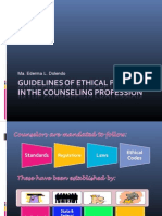 Guidelines for Ethical Practice of the Counseling Profession