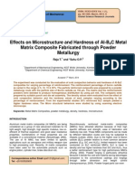 Effects on Microstructure and Hardness of Al b4c Meta Matrix Composite Fabricated Through Powder Metallurgy