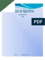 Análisis de Algoritmos Clase Nº 4