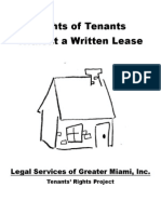 Rights of Tenants Without a Written Lease - EnG