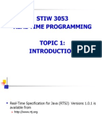 Introduction to Real Time Programming