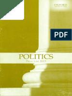Politics Checklist New 2013