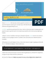 CloudFlare, WordPress Ve SEO