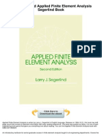 Applied Finite Element Analysis Segerlind