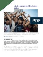 Hong Kong Protests Spur Renewed Debate Over 'Patriotic' Education