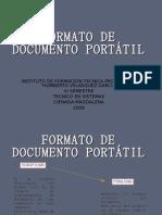 FORMATO DE DOCUMENTO PORTÁTIL