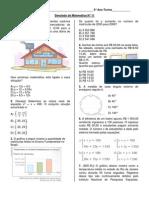 Simulado de Matemática N° 12