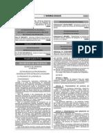 Decreto de Urgencia Nº 005-2014