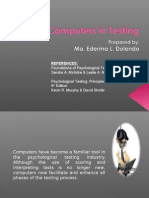 Use of Computers in  PSychological Testing