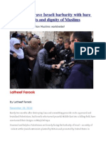 Palestinians Brave Israeli Barbarity With Bare Hands for Rights and Dignity ofMuslims