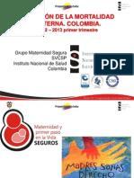1 Situación Mortalidad Materna y Evaluación de Indicadores 2012