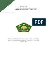 Pedoman Penyuluh Teladan 2013