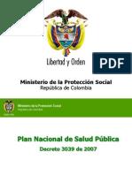 Plan Nacional de Salud Pública 2007 2010