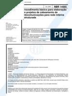 Normas Cabeamento Nbr-14565
