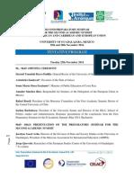 Tentative Program ALCUE Guadalajara (21 Nov)