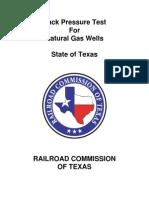 Back-Pressure Test Manual (TX-RRC)