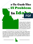How to Curb the DUI Problem in Idaho