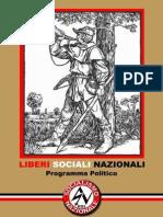 USN - Programma Politico Socialismo Nazionale