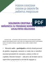 Solomon Cristina Simpozion 2014