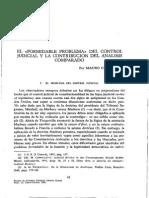 Cappelletti - El formidable problema del control judicial y la contribución del analisis comparado