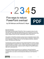 Five ways to reduce PowerPoint overload