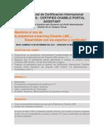 Curso Oficial de Certificación Internacional Chamilo1.9