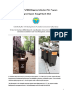 NYC Dept of Sanitation Pilot Composting Report June 2014