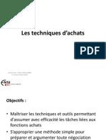 Les Techniques d'Achats
