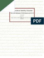 Dissociative Identity Disoder1